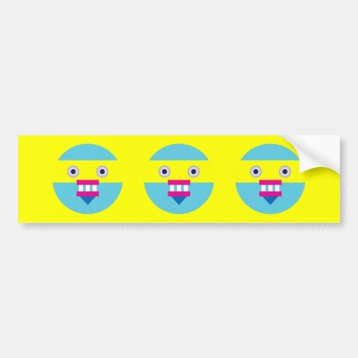 Weird Robot Car Bumper Sticker