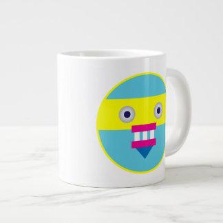 Weird Robot Giant Coffee Mug