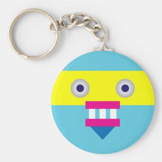 Weird Robot Basic Round Button Keychain