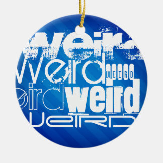 Weird; Royal Blue Stripes Christmas Tree Ornaments