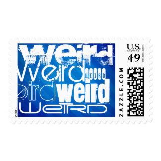 Weird; Royal Blue Stripes Stamp