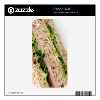 Weird Sandwich Print - Bread and Lettuce iPhone 4 Skin