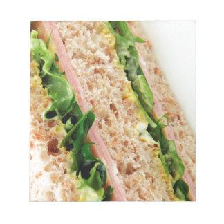 Weird Sandwich Print - Bread and Lettuce Notepad