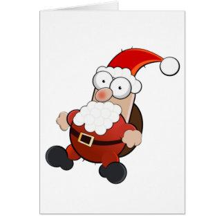 Weird Santa Claus Card
