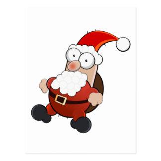 Weird Santa Claus Postcard