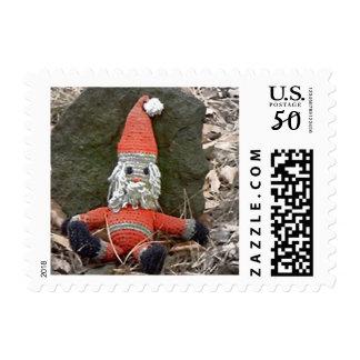 Weird Santa Doll Postage Stamps