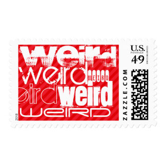 Weird; Scarlet Red Stripes Postage