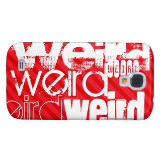 Weird; Scarlet Red Stripes Samsung Galaxy S4 Cover