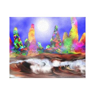weird seascape gallery wrap canvas