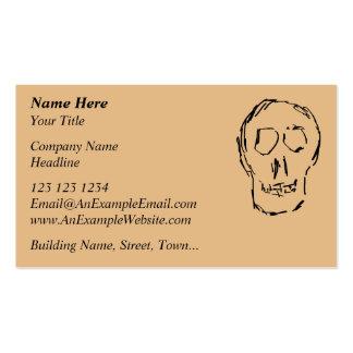 Weird Skull. Black. Sketch. Business Card