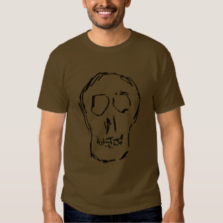 Weird Skull. Black. Sketch. T-Shirt