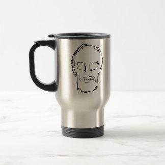 Weird Skull. Black. Sketch. Travel Mug