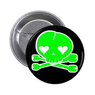 Weird Skull Goth Kawaii Style 2 Inch Round Button