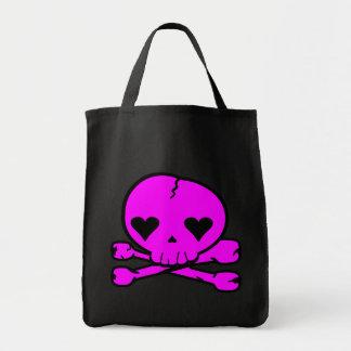 Weird Skull Goth Kawaii Style PINK Bag