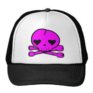 Weird Skull Goth Kawaii StyPINK Trucker Hat