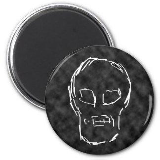 Weird Skull. White. Sketch. Magnet