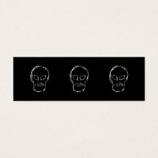 Weird Skull. White. Sketch. Mini Business Card