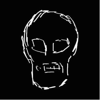 Weird Skull. White. Sketch. Acrylic Cut Out
