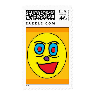 WEIRD SMILE (2) POSTAGE STAMPS
