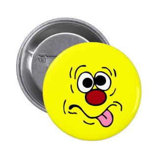 Weird Smiley Face Grumpey Button