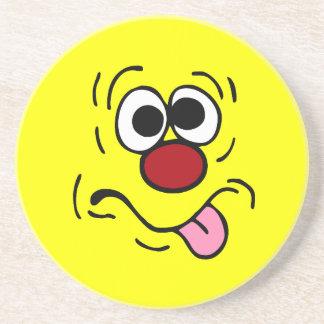 Weird Smiley Face Grumpey Coaster
