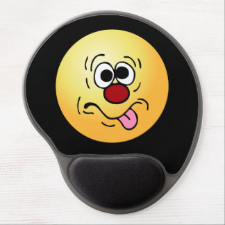 Weird Smiley Face Grumpey Gel Mouse Pad