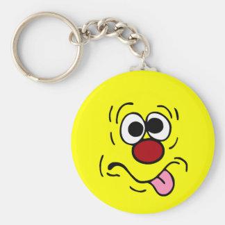 Weird Smiley Face Grumpey Keychain