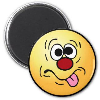 Weird Smiley Face Grumpey Magnet