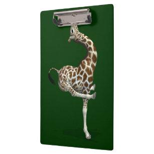 Weird Sportive Giraffe Clipboard