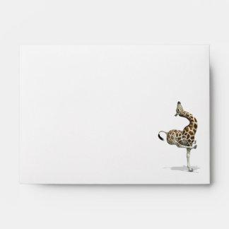 Weird Sportive Giraffe Envelopes