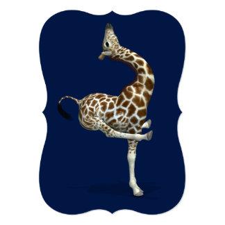 Weird Sportive Giraffe 5x7 Paper Invitation Card