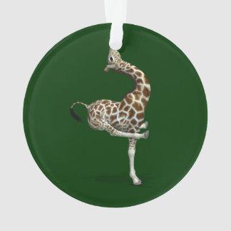 Weird Sportive Giraffe Ornament