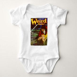 weird tales art baby bodysuit