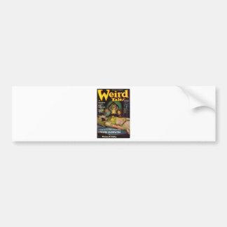 weird tales art bumper sticker
