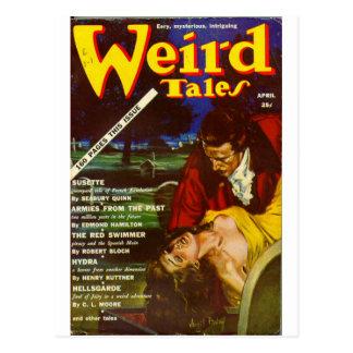 weird tales art postcard