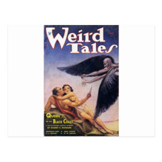 weird tales art postcard