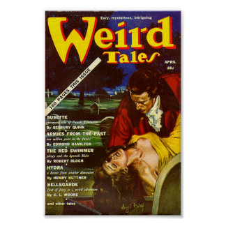 Weird Tales Comic Poster April