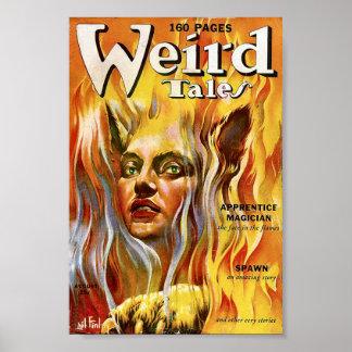 Weird Tales Comic Poster August