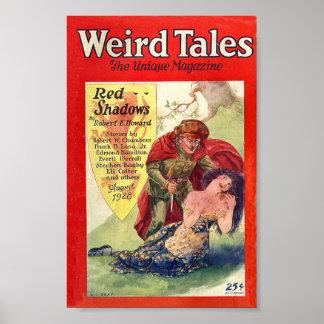 Weird Tales Comic Poster August 1928