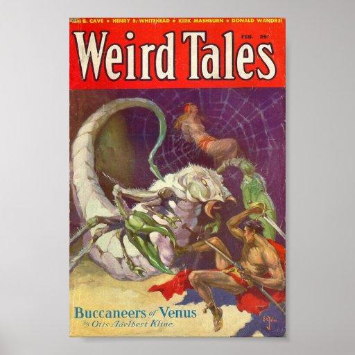 Weird Tales Comic Poster - Buccaneers of Venus
