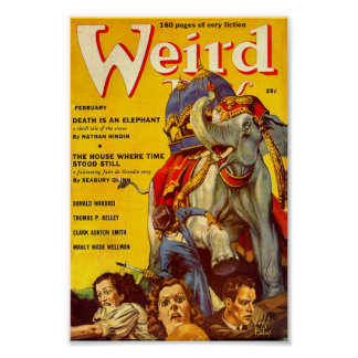 Weird Tales Comic Poster February