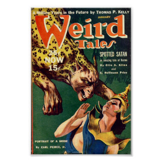 Weird Tales Comic Poster January