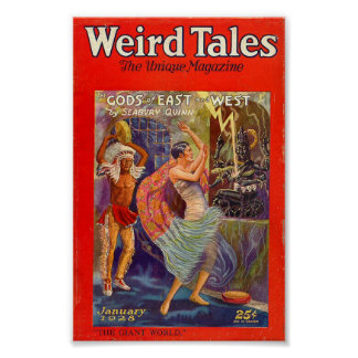 Weird Tales Comic Poster January 1928