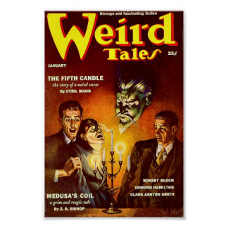 Weird Tales Comic Poster - The Fifth Candle