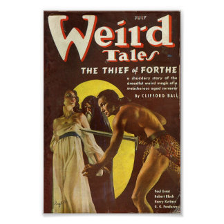 Weird Tales Comic Poster - The Thief of Forthe