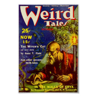 Weird Tales Comic Poster - The Witches Cat