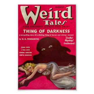 Weird Tales Comic Poster - Thing of Darkness
