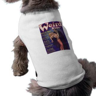 Weird Tales Vampire Comic Book Dog Tee