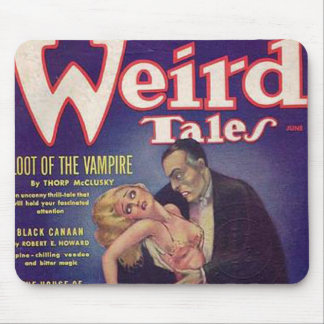 Weird Tales Vampire Comic Book Mouse Pad