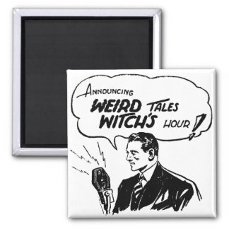 Weird Tales Witches Hour 2 Inch Square Magnet
